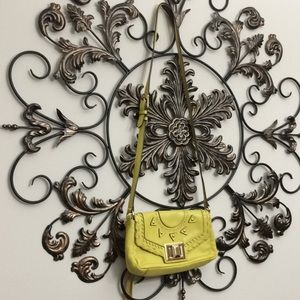 Aimee Kestenberg yellow leather Turnlock crossbody